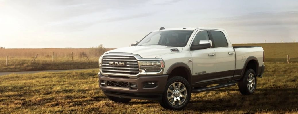2021 RAM 2500 parked outside field view