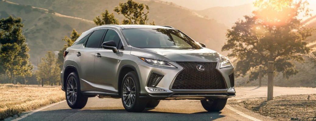 2020 Lexus RX 350 parked at sunrise
