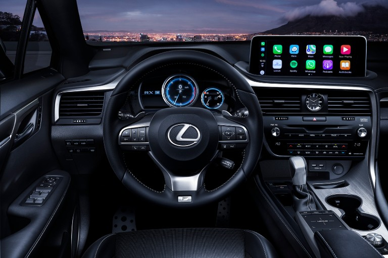Cabin of the 2020 Lexus RX