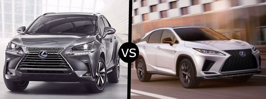 What is the difference between the 2020 Lexus NX Hybrid and RX Hybrid?