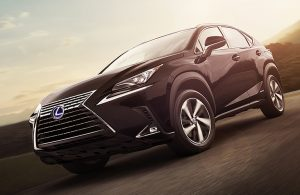 2019 Lexus NX Hybrid viewed from the side