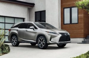 2020 Lexus RX Hybrid in front of a house