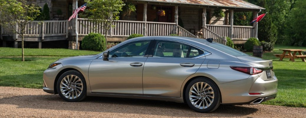 2019 Lexus ES 300h parked in front of a house