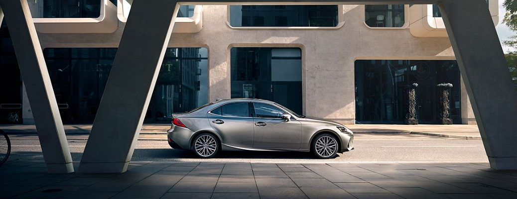 2020 Lexus IS parked downtown