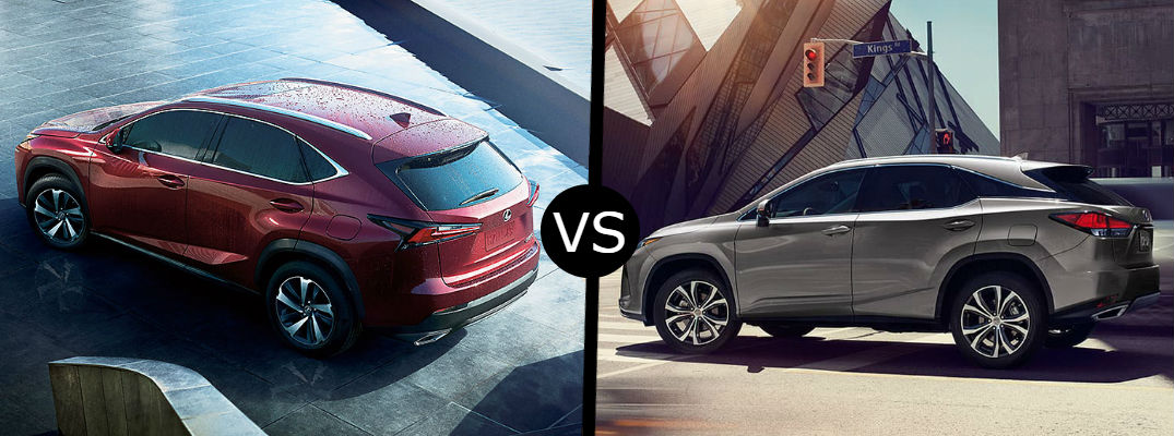 What is the difference between the 2020 Lexus NX vs. 2020 Lexus RX?