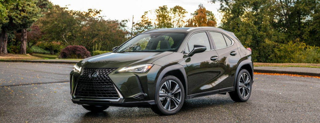 2020 Lexus UX parked on road