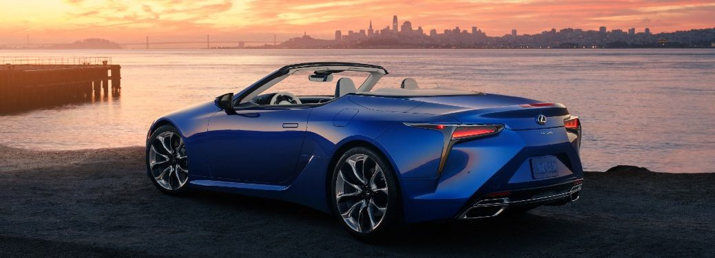 2021 Lexus LC 500 Convertible from rear