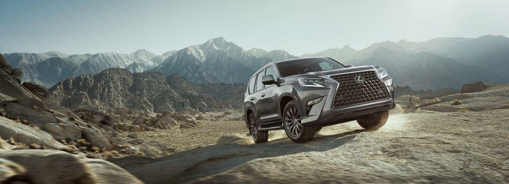 front view of a silver 2021 Lexus GX