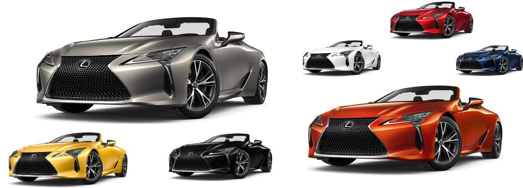 2021 Lexus LC 500 Convertible models with white background