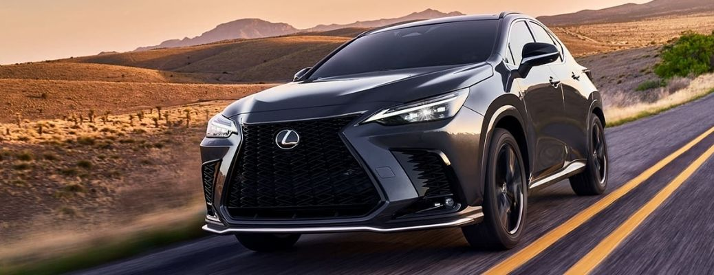 View of the 2022 Lexus NX on the road
