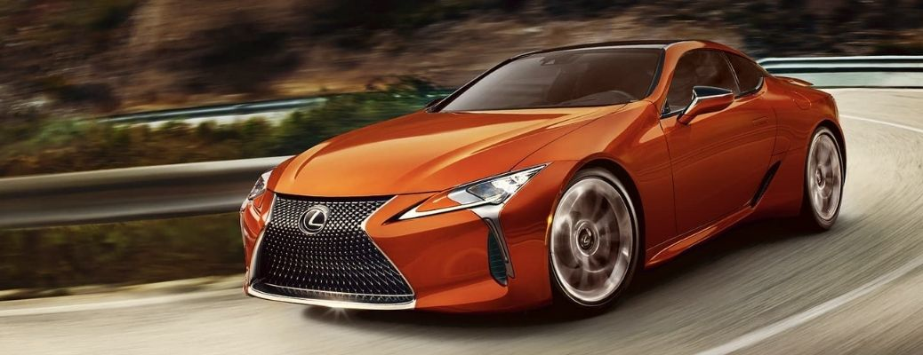 A view of the 2021 Lexus LC 500 on road