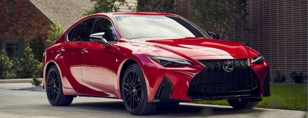 View of the 2021 Lexus IS 350 F Sport on road