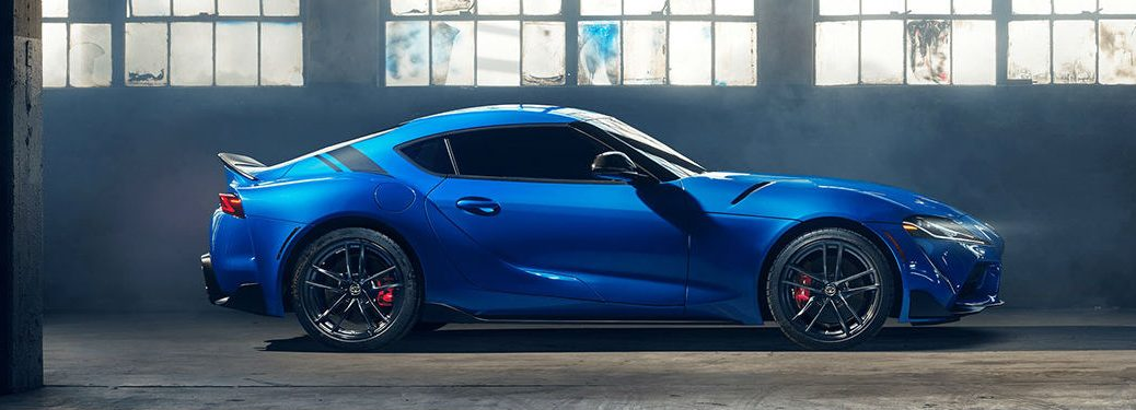 2021 Toyota GR Supra in blue