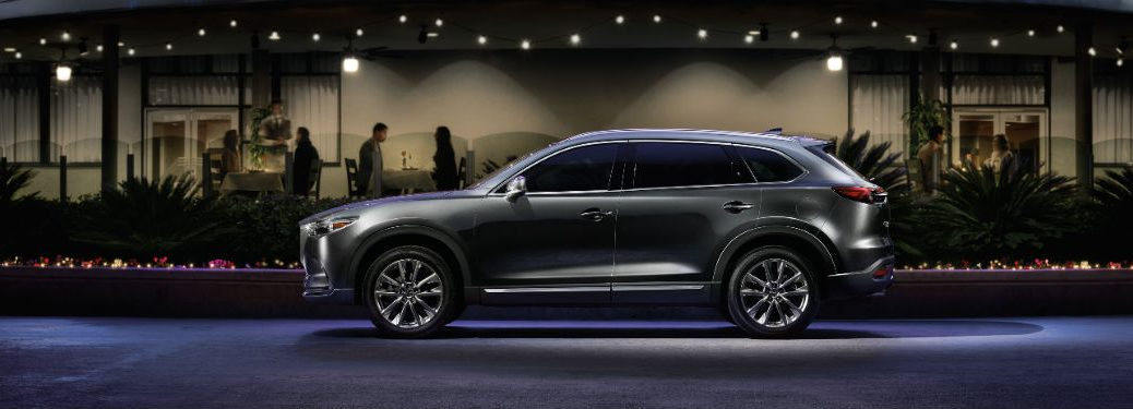 side view of a black 2019 Mazda CX-9