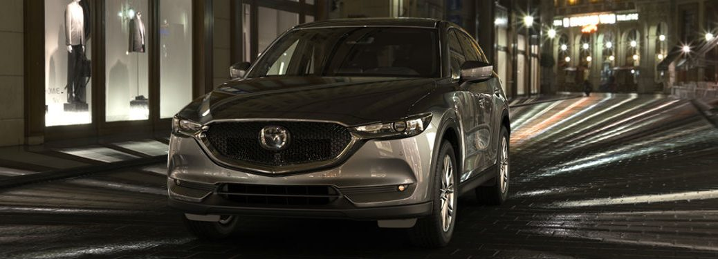front view of a silver 2019 Mazda CX-5