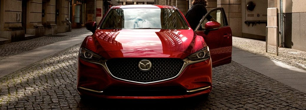 2020 Mazda6 with person getting in on the driver's side
