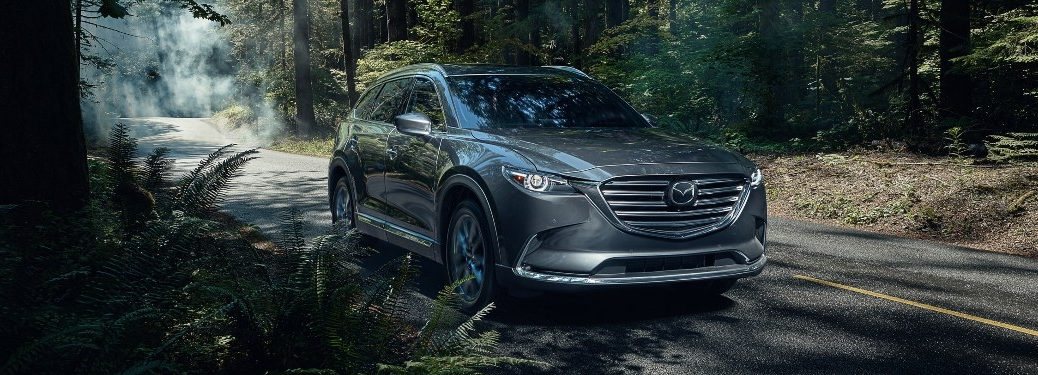 2020 Mazda CX-9 traveling through the woods