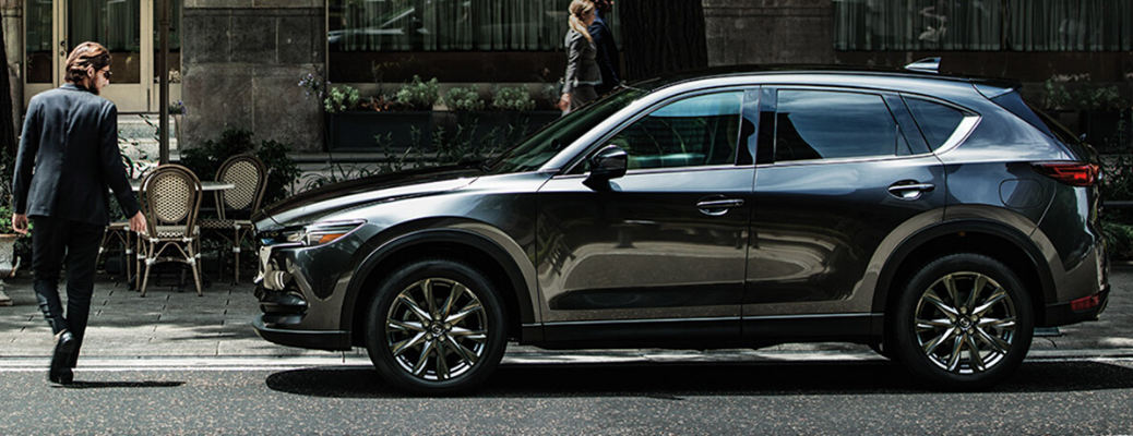 Side view of 2020 Mazda CX-5 parked on city street