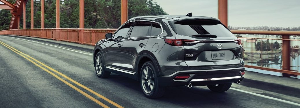 2020 Mazda CX-9 going over a bridge