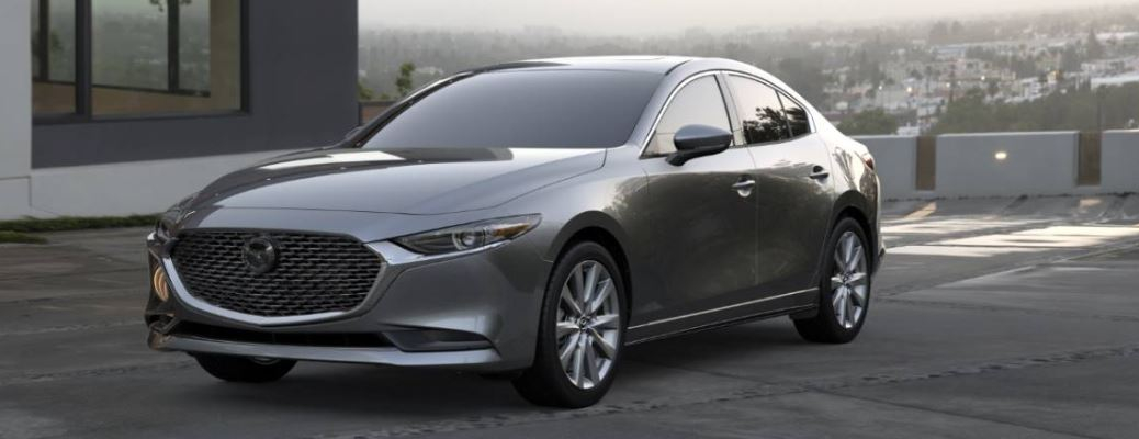 2020 Mazda3 Sedan parked by a building