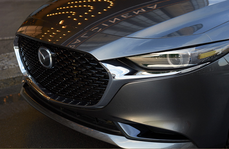 2020 Mazda3 Sedan close up of the front grille