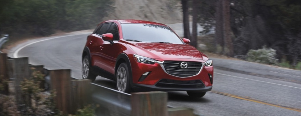 2021 Mazda CX-3 going down the road