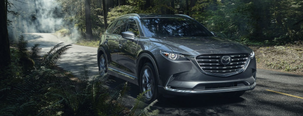 2021 Mazda CX-9 going through the woods