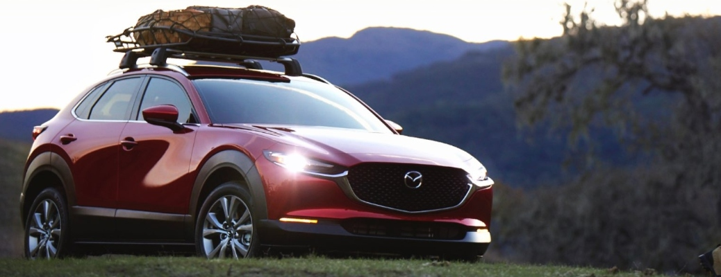 2021 Mazda CX-30 parked on a hill