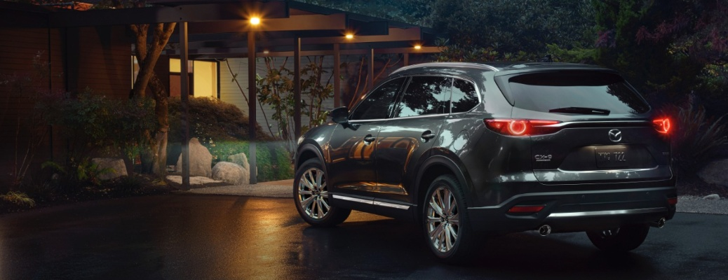 2021 Mazda CX-9 parked outside of a house