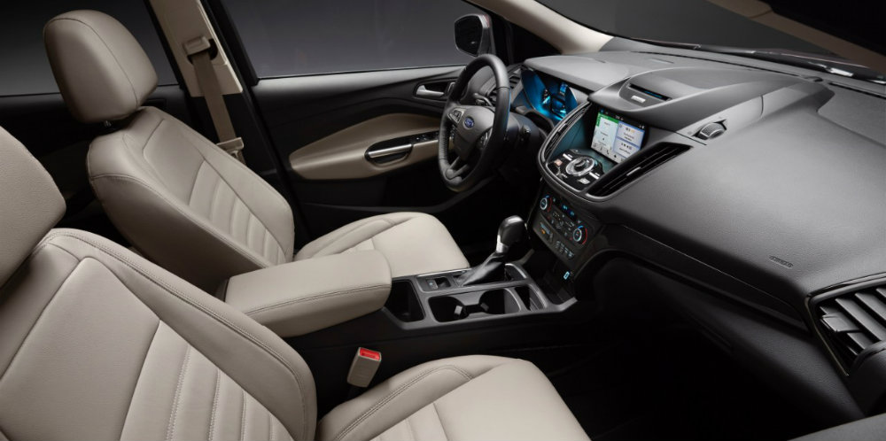 2017 Ford Escape interior view pale seating