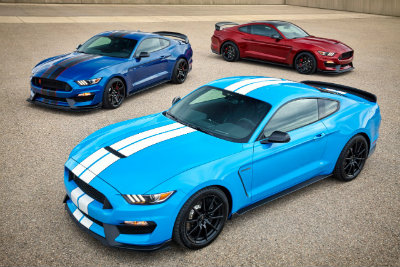 New color options on the 2017 Ford Shelby GT350 Mustang