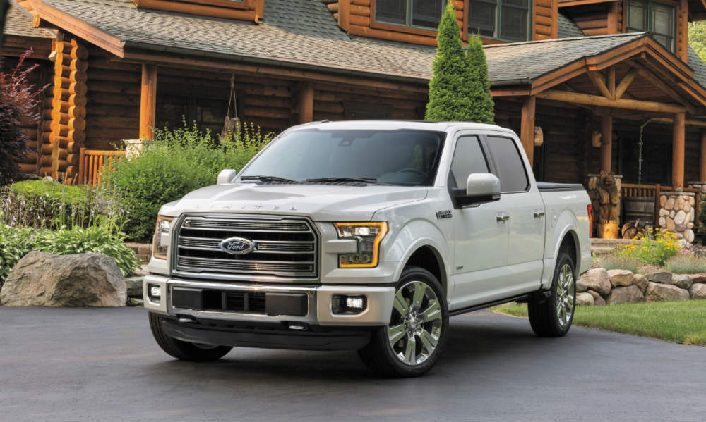 award-winning 2016 Ford F-150 in front of a house