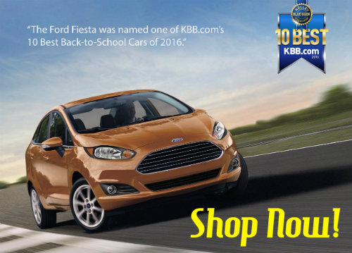 Ford Fiesta makes KBB Back to School 2016 list