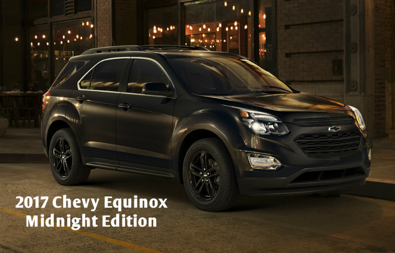 blacked-out 2017 Chevy Equinox Midnight Edition