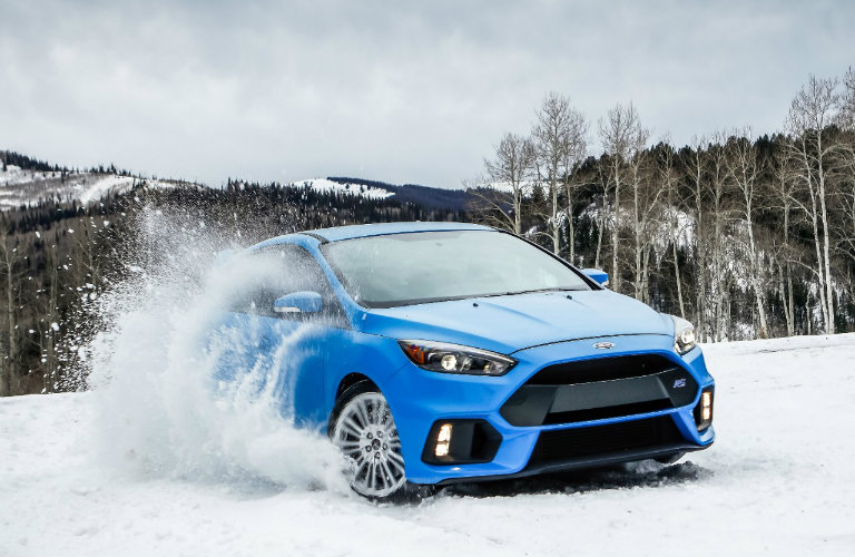 2017 Ford Focus RS having fun in the the snow