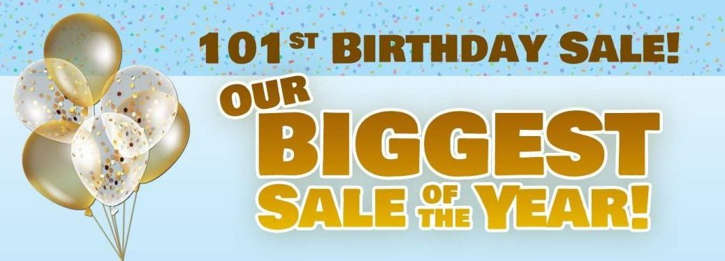 broadway automotive 101 birthday sale