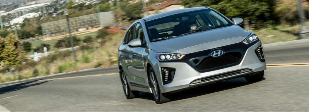 2018 Hyundai Ioniq electric driving on a country road