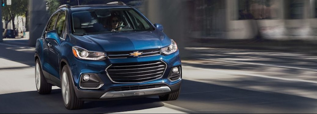 2018 Chevy Trax driving in a city