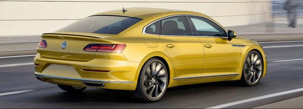 view of the back of the 2019 vw Arteon