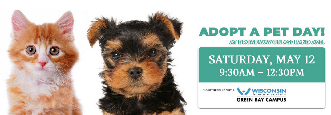 Adopt a Pet at Broadway Automotive on May 12th!