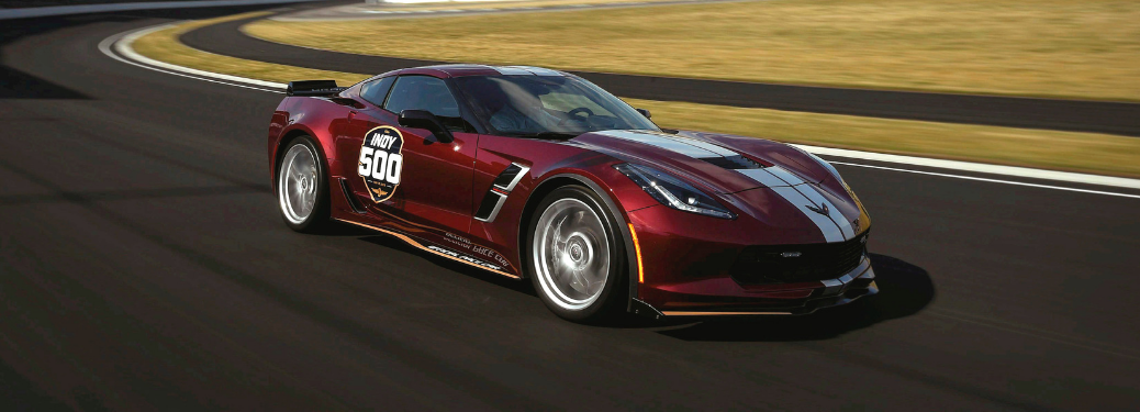 front and side view of 2019 chevy corvette grand sport pace car