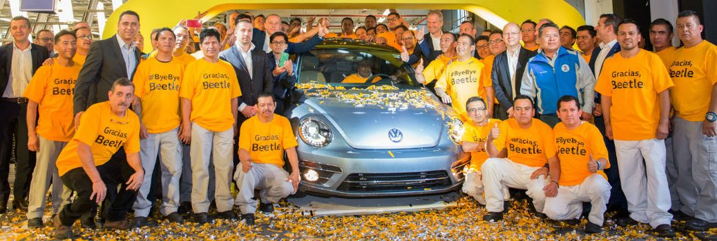 Production Line Employees Celebrate Final Volkswagen Beetle