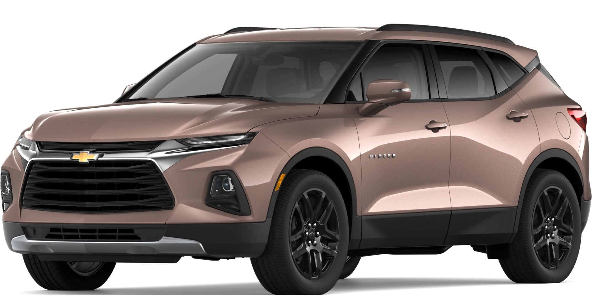 2019 Chevy Blazer Exterior Driver Side Front Profile in Oakwood Metallic