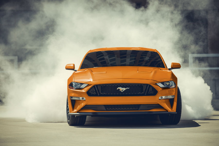 2020 Ford Mustang Exterior Front Fascia Blowing Smoke