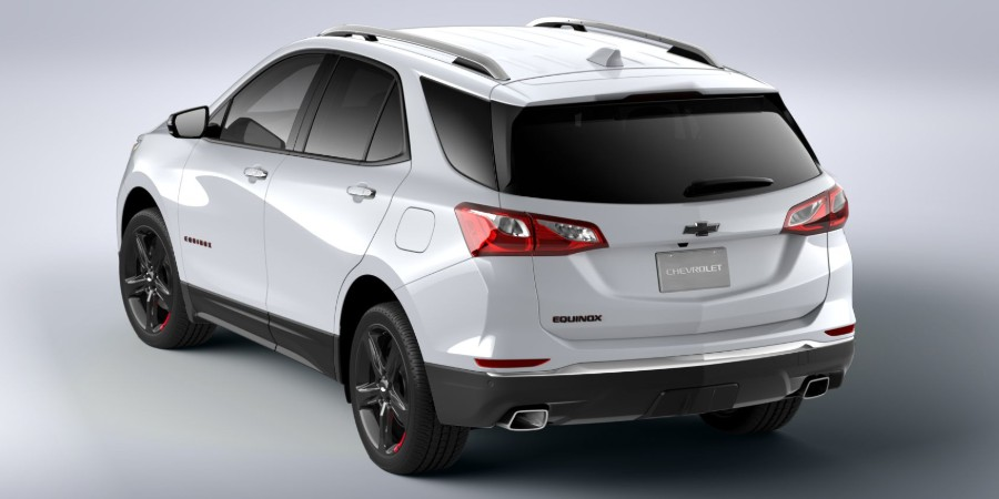 Rear driver angle of the 2020 Chevrolet Equinox Redline Edition