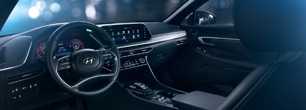 Front interior inside the 2020 Hyundai Sonata