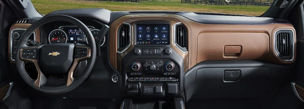 Front interior inside the 2020 Chevrolet Silverado