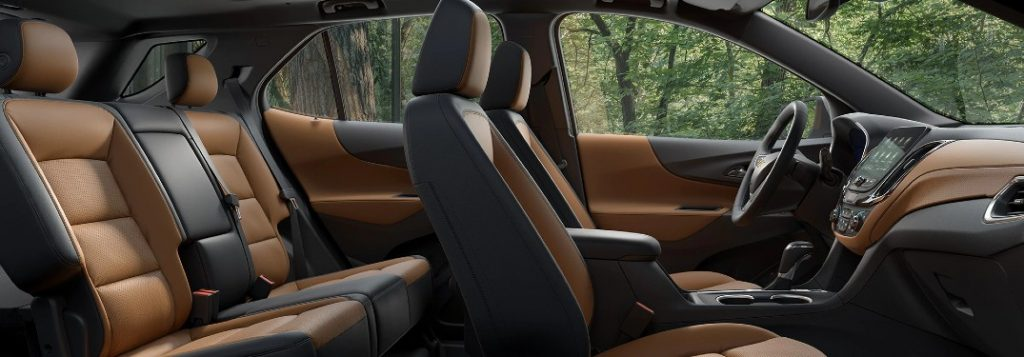 Seats inside the 2020 Chevrolet Equinox