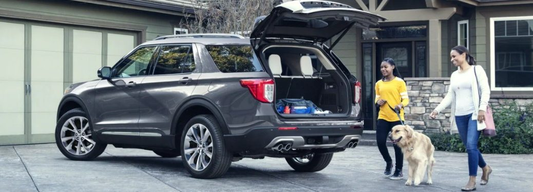 2021 Ford Explorer parked with liftgate open