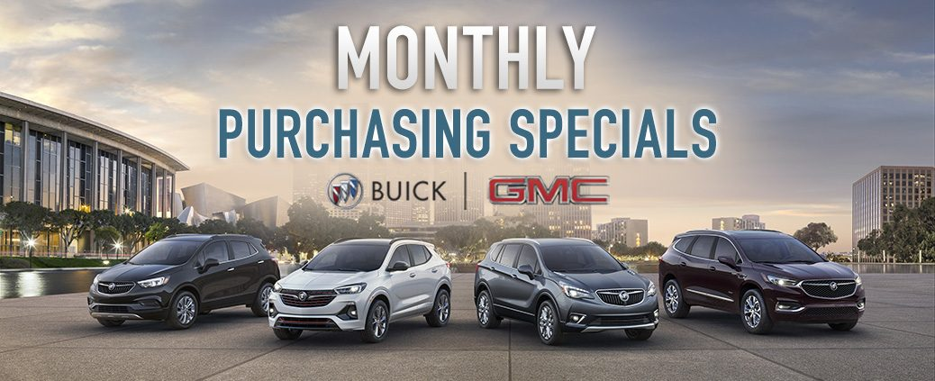 Monthly Purchasing Specials on Buicks & GMCs